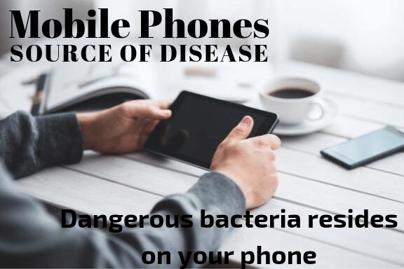 bacteria on phones